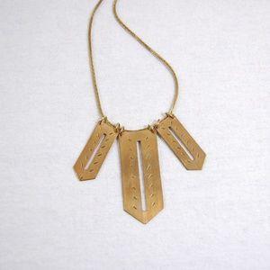 Jewelry - Handmade Gold Razor Necklace